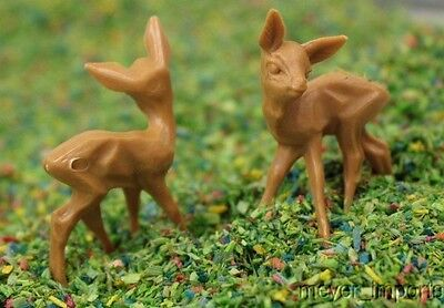 "Deer - 1/2"" Tall - 10 Pcs Set - Hand crafted in Germany!"