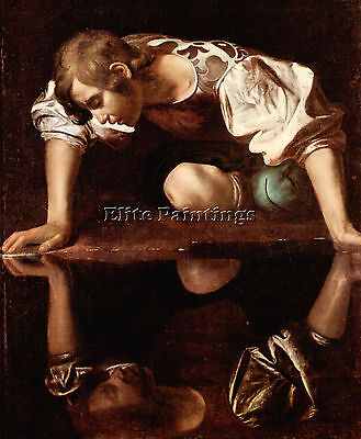 Narcissus By Caravaggio Artist Painting Handmade Oil Canvas Repro Wall Art Deco