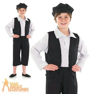 Victorian Boy Costume Child Urchin Fancy Dress Peasant Book Day Outfit Kids New