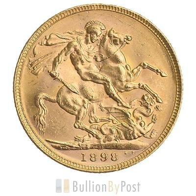 1898 Gold Sovereign - Victoria Old Head - M