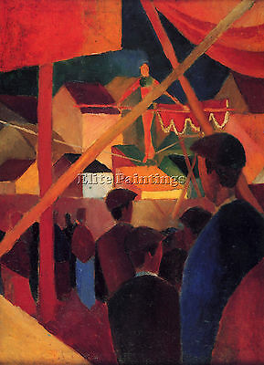 Tightrope By Macke Artist Painting Reproduction Handmade Oil Canvas Repro Art