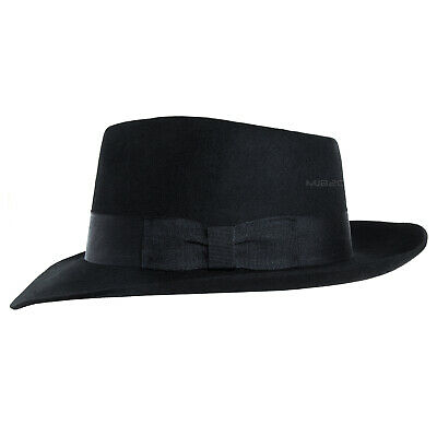Michael Jackson Costume - Black Hat - Fedoras - Wool Felt