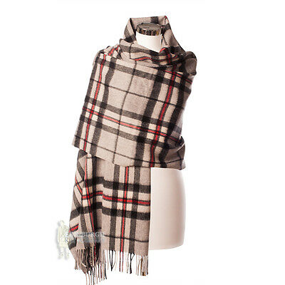 Edinburgh - Luxurious, Soft & Warm 100% Lambswool Stole - Thomson Grey