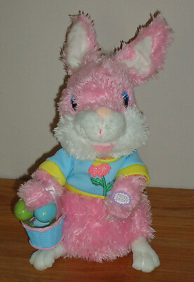 """EASTER BUNNY musical animated Dan Dee plush toy Ohio Express """"Yummy"""" song"""
