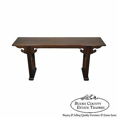 Davis Cabinet Solid Walnut Oriental Style Chinese Altar Console Table