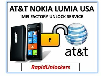 AT&T NOKIA LUMIA FAST UNLOCK CODE SERVICE (ALL PHONES) ONLY CLEAN IMEI SUPPORTED
