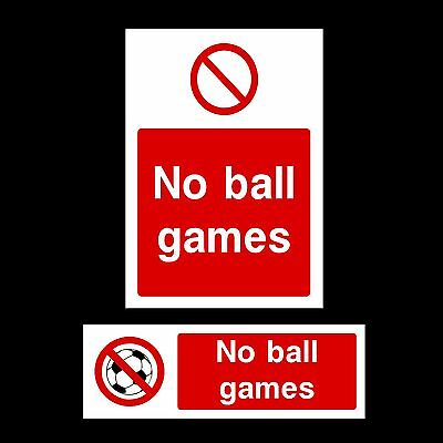 No Ball Games Plastic Sign, Sticker - All Materials & Sizes