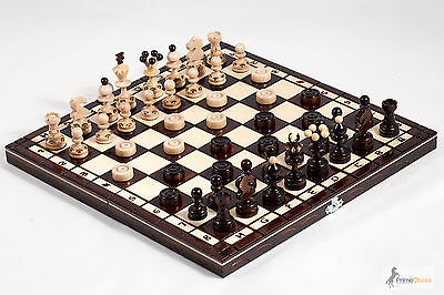 Pearl  Hand Crafted Wooden Chess and Draughts Set 35cm x 35cm