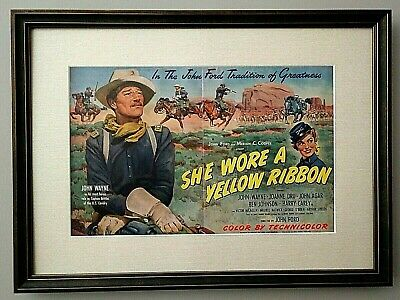 "Original to 1949 John Wayne ""She Wore a Yellow Ribbon"" lobby Poster - AUTHENTIC"