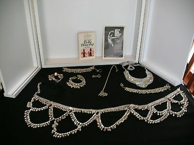 Silver Tone Belly Dancing Jewelry Set And 2 Books