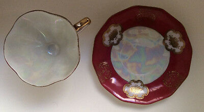 Pottery & China Porcelain Tea Cup Saucer Walls Japan Vintage Collectible Red