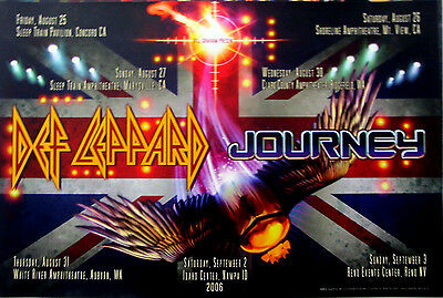 Def Leppard Journey 7 city Tour Poster (BGP#343) 2006