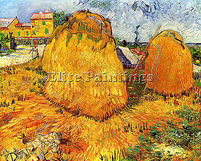 Haystacks In Provence2 Artist Painting Reproduction Handmade Oil Canvas Repro
