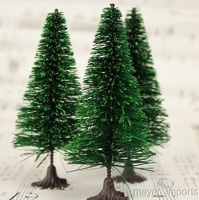 "3"" Bottle Brush Trees - 5 Pieces"