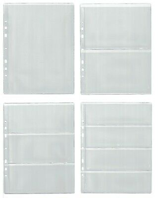 Pages for banknote album, dividers - BIG CHOOSE - Four types for 1, 2, 3, 4