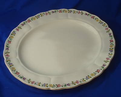 "GRINDLEY GREENWAY serving platter Royal Petal Marlboro large 14"" plate"