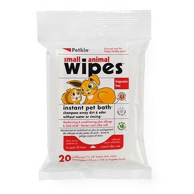 Petkin Small Animal Wipes 20pcs