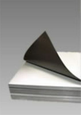 """25-8/""""X10/"""" SHEETS OF MAGNET WITH MATTE WHITE FINISH"""