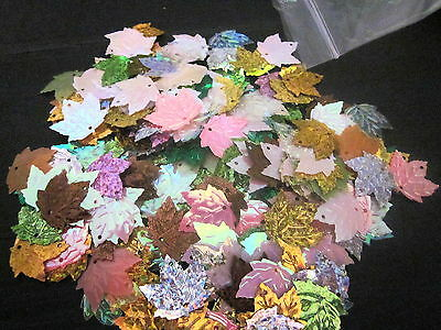 SEQUINS -    Mixed coloured Leaves _____N0. 2     50gm bags-- see Photos