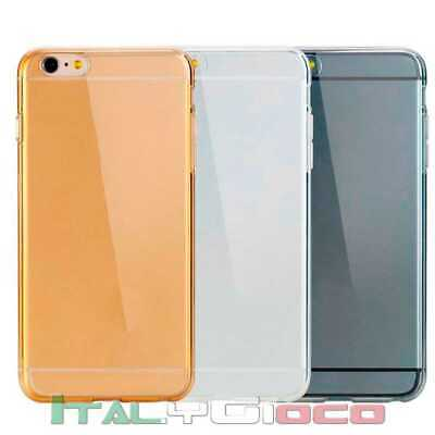 Custodia Silicone Ultra Thin Gel TPU Slim per iPhone 6 Plus Transparente