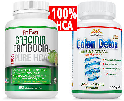 85% HCA 3,000 mg GARCINIA CAMBOGIA +COLON DETOX/Healthy CLEANSE for WEIGHT LOSS