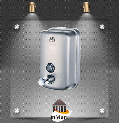 MIIKe Commercial Toilet Manual Soap Dispenser Stainless Steel 1000ml Indicator