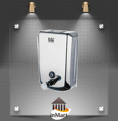 MIIKe+ Commercial Toilet Manual Soap Dispenser Stainless Steel 800ml Indicator
