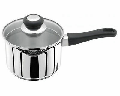 Judge Vista Saucepan With Double Sided Draining Lid Stainless Steel Induction