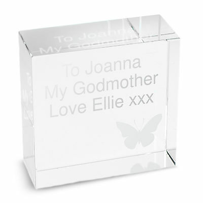 Personalised GLASS BLOCK - MUM MOTHER'S DAY GIFT NAN GRANDMA AUNTIE SISTER
