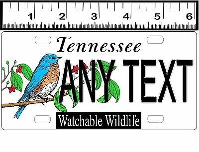 CUSTOM PERSONALIZED BICYCLE STATE LICENSE PLATE-TENNESSEE WATCHABLE WILDLIFE
