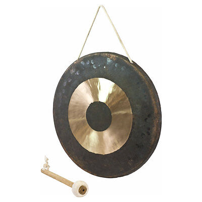 "Percussion Workshop 14"" Traditional Chinese Chau Gong (38cm) with Mallet"