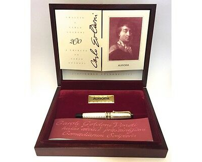 AURORA, CARLO GOLDONI 1793 Sterling Silver  Fountain Pen, MINT - New In Box