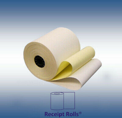 "3"" x 90' 2-ply Carbonless POS Receipt Paper  rolls - 50/CS"