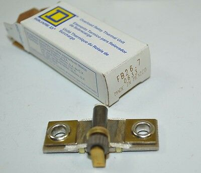 Square D Overload Relay Thermal Unit Heating Element Model# FB26.7