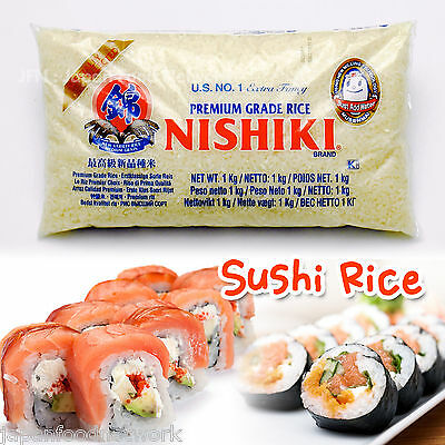 US NO.1 NISHIKI Sushi Rice Calfornia The Rinse Free 1kg Top Quality Japanese