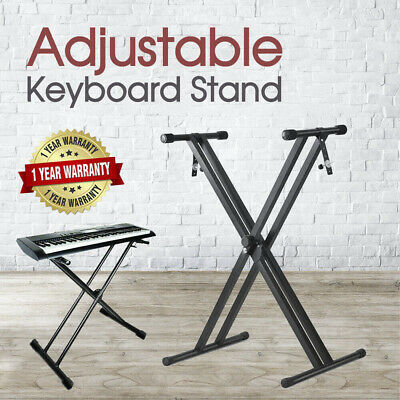 Keyboard Stand Adjustable Double Braced X Type Height Folding Music Piano Holder