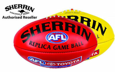 Sherrin Official AFL Replica Game Football PVC full size 5