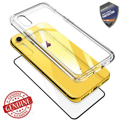 915d987faa95 For APPLE iPhone XS MAX XR Case Clear Slim Case Rugged full body Glass Cover