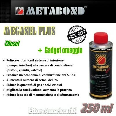 Metabond Megasel Plus - Additivo Diesel 250Ml- Trattamento Gasolio High Quality