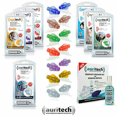 AURITECH EAR PLUGS Multilisting Bkier Shoot Sleep & More Earplugs - FREE UK P&P!