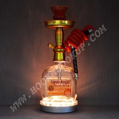 Captain Morgan Private Stock 1L Bottle Hookah with LED Stand