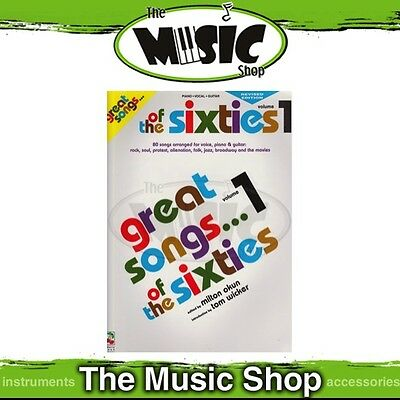 New Great Songs of the 60s: Volume 1 PVG Music Book - Piano Vocal Guitar - 1960s