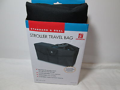 "New Childress STROLLER TRAVEL BAG 42""x2""x13"", Antimicrobial Coating - Black NIB"