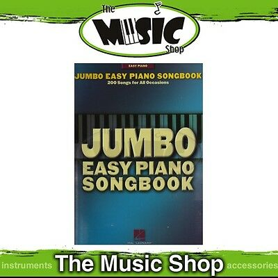 New Jumbo Easy Piano Songbook Music Book with 200 Songs!