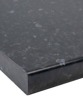 Black Slate/Granite Matt Laminate Kitchen Worktop 30mm by Oasis - Fast & Free