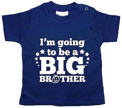 """Dirty Fingers Baby T-Shirt """"I'm Going to be a Big Brother"""" Boy's Top Tee Clothes"""