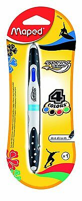 4 Colour Ball Pen By Maped - Twin Tip - Great Product And Price + Free P&p!