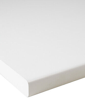 Pearl Plain White 30mm Laminate Kitchen Worktop by Oasis - Fast & Free