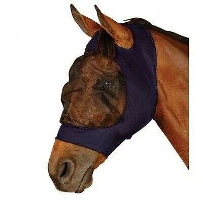 Roma Stretch Lycra Eyesaver Fly Mask,All Sizes,Navy or Purple,Soft & Comfortable