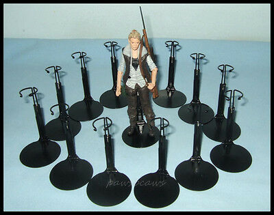 15 Black Action Figure DISPLAY STANDS fit 5.5 & 6 inch Walking Dead